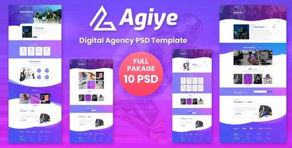 Agiye - Agency PSD Template - Business Corporate