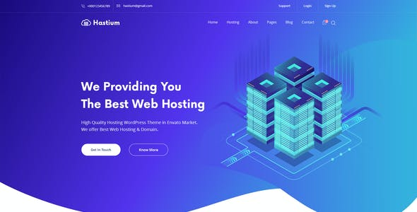 Hastium - Web Hosting and Domain PSD Template