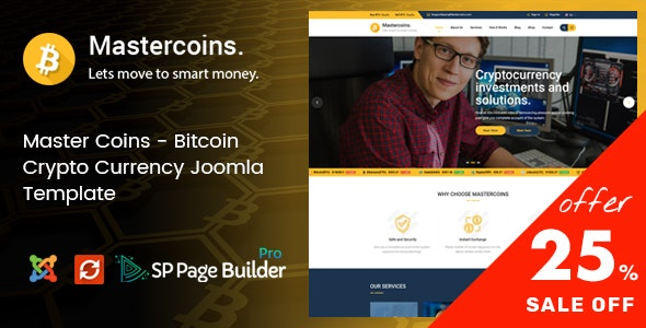 Master Coins - Cryptocurrency Joomla Template - Business Corporate