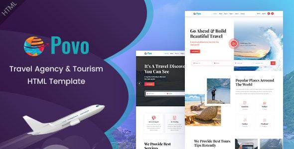 Povo - Travel Agency HTML Template - Travel Retail