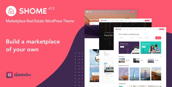 SHome | Marketplace Real Estate WordPress Theme - Real Estate WordPress