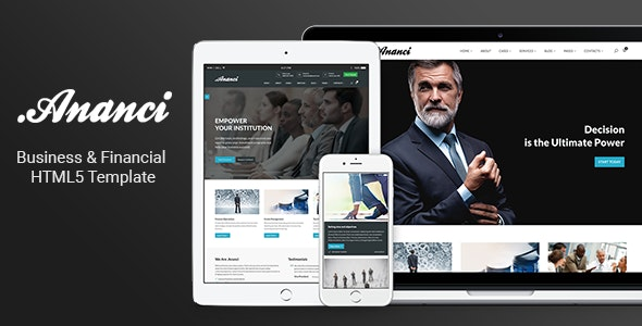 Ananci - Business & Financial HTML5 Template - Corporate Site Templates