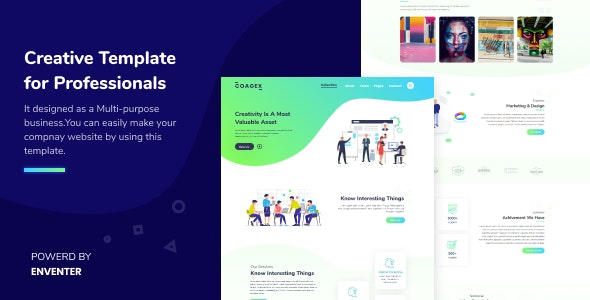 Coagex - Creative Agency Template - Corporate Site Templates