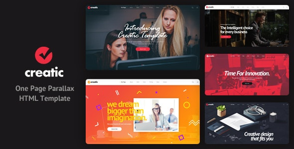 Creatic - One Page Parallax HTML Template - Creative Site Templates