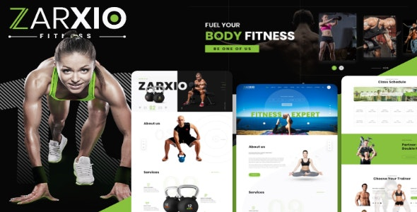 Zarxio - Fitness and Gym HTML Template - Health & Beauty Retail