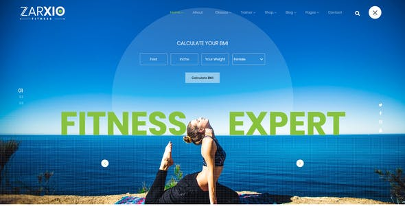 Zarxio - Fitness and Gym HTML Template