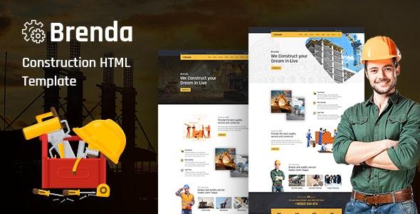 Brenda – Construction HTML5 Template - Business Corporate