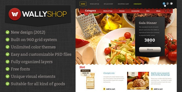 WallyShop for OpenCart PSD Template - Retail Photoshop