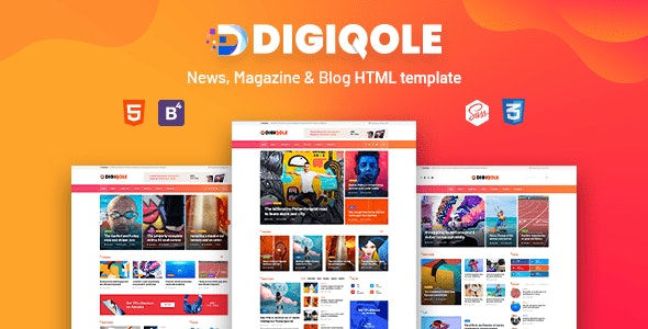 Digiqole - News, Magazine HTML Template - Entertainment Site Templates