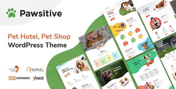 Pawsitive - Pet Hotel & Shop WordPress Theme - Retail WordPress