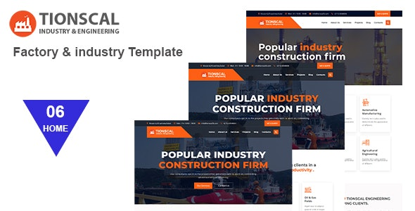 Tionscal - Factory & Industrial HTML Template - Business Corporate