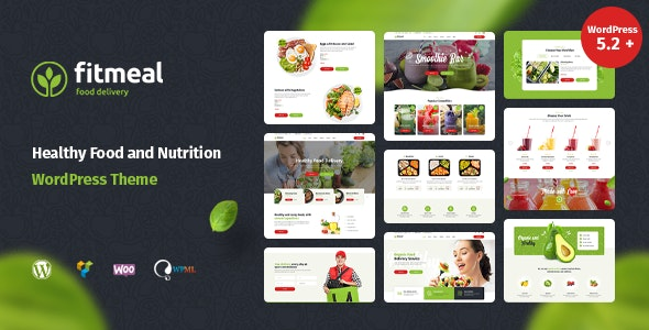 Fitmeal - Organic Food Delivery and Healthy Nutrition WordPress Theme - Food Retail
