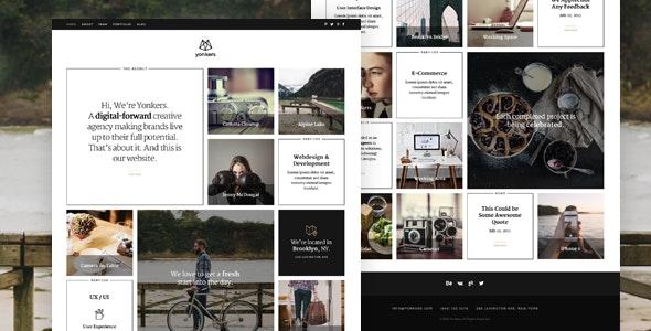 Yonkers - Trendy Portfolio Joomla Template - Portfolio Creative
