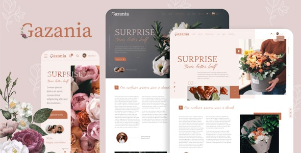 Gazania - Flower Shop Sass HTML Template - Shopping Retail