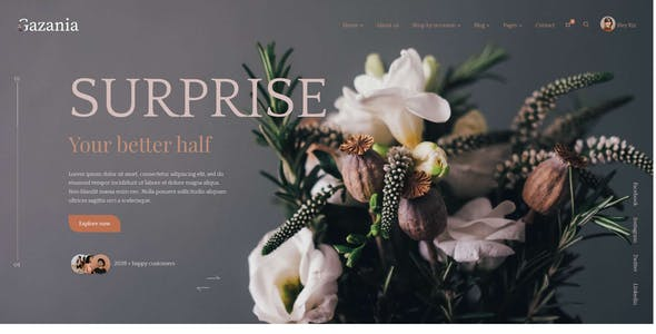 Gazania - Flower Shop eCommerce Template