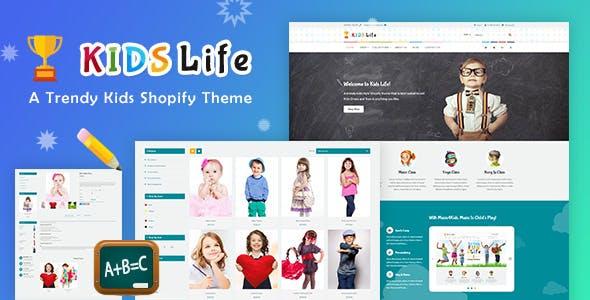 Kids Life - Toys, Children School Shopify Theme