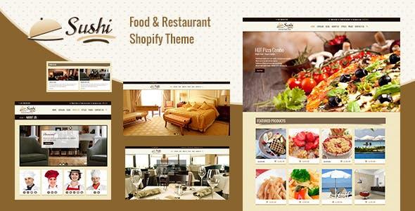 Sushi - Shopify Menu, Restaurant Theme