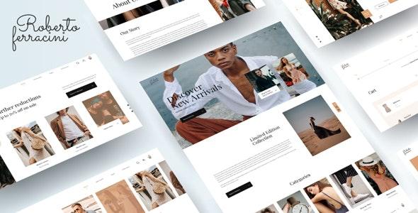 Roberto Ferracini - Fashion and Clothing Shop Template - Fashion Retail