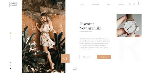 Roberto Ferracini - Fashion and Clothing Shop Template