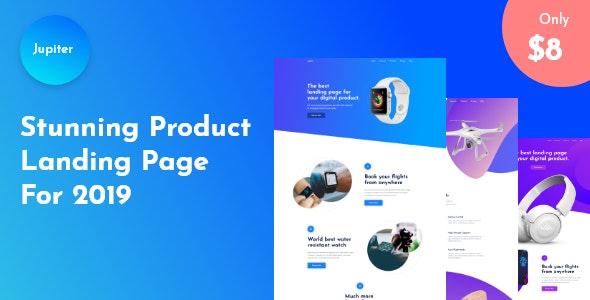 Jupiter - Product Landing Page - Marketing Corporate