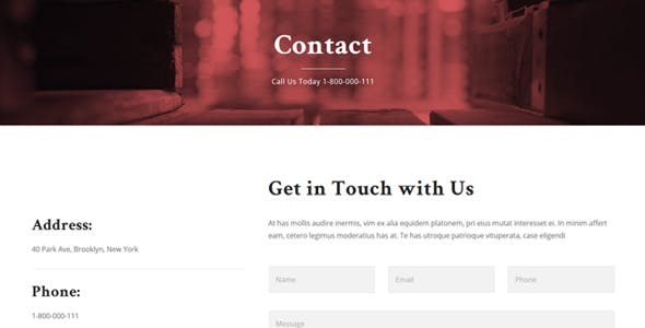 Lawyers - Responsive Business HTML5 Template