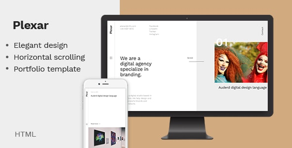 Plexar - A Portfolio and Agency Template - Portfolio Creative