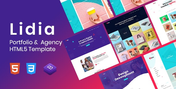 Lidia - Portfolio & Agency HTML5 Template - Portfolio Creative