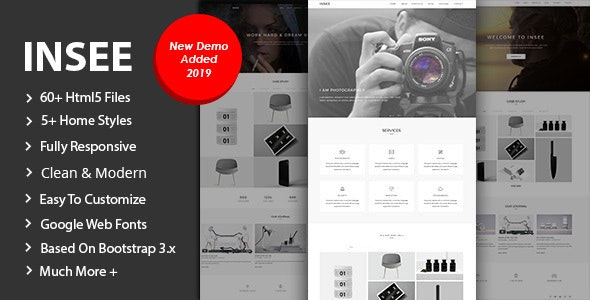 Insee - Minimal Portfolio Template - Portfolio Creative