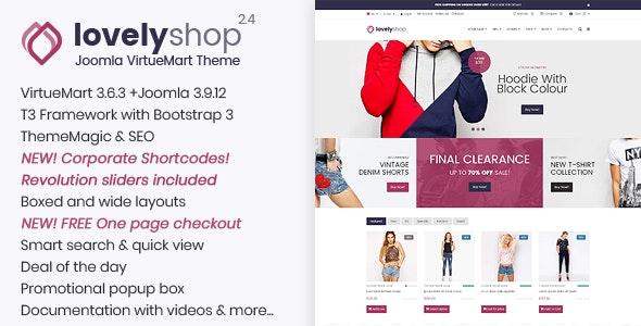 LovelyShop - Responsive Multipurpose VirtueMart Theme - VirtueMart Joomla