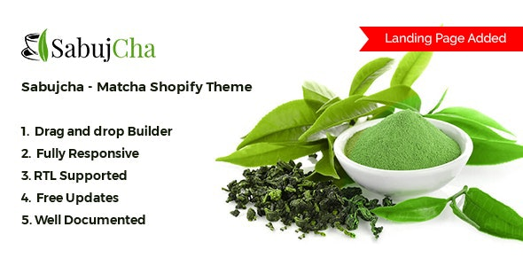 Matcha Shopify Theme - Sabujcha - Health & Beauty Shopify