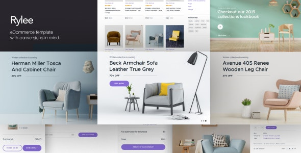 Rylee -  eCommerce Business HTML Templates - Business Corporate