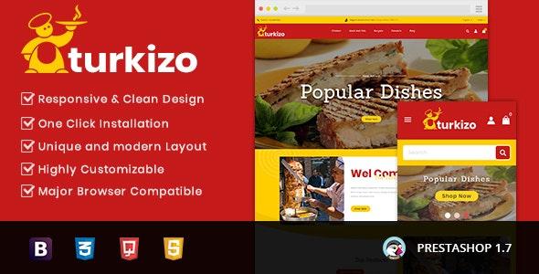 Turkizo - Food Store Prestashop 1.7 Responsive Theme - Health & Beauty PrestaShop