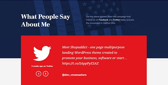 Right Candidate - Election Campaign and Political WordPress Theme