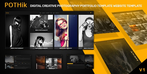 Pothik - Digital Creative Photography Portfolio Template - Photography Creative