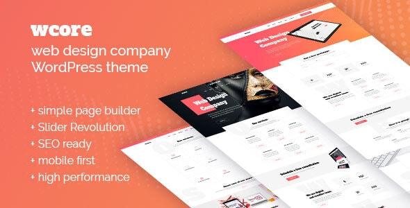 wCore - Web Design Agency WordPress Theme - Marketing Corporate