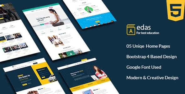 Edas - Education & Learning HTML Template - Corporate Site Templates