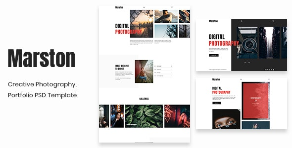 Marston - Creative Photography, Portfolio PSD Template - Creative Photoshop