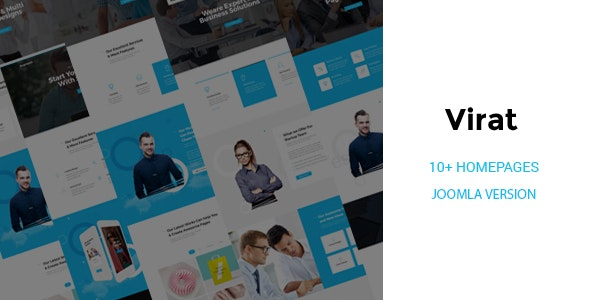 Virat - Responsive Multi-Purpose Joomla Website Template with Page Builder - Business Corporate