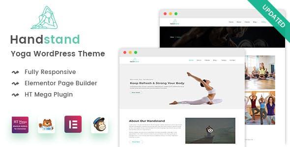 Handstand - Yoga WordPress Theme