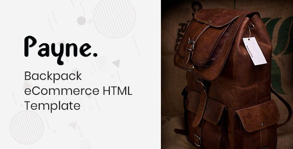 Payne - Backpack eCommerce HTML Template
