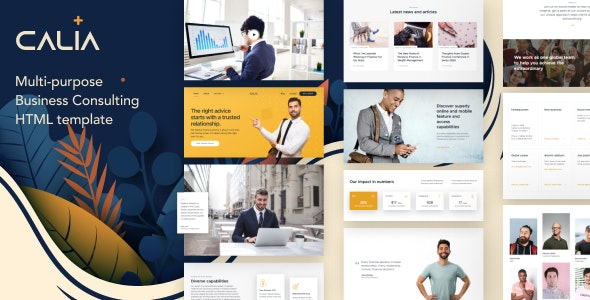 Calia - Business Consulting HTML Template - Business Corporate