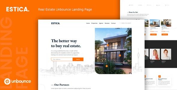 Estica — Real Estate Unbounce Landing Page Template - Unbounce Landing Pages Marketing