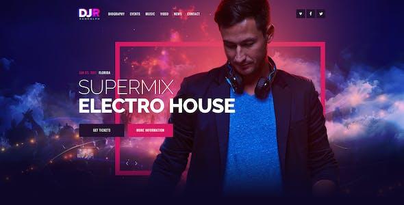 DJ Rainflow | Music Band & Musician PSD Template