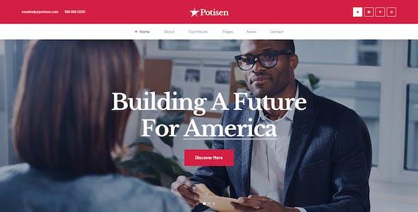 Potisen - Election & Political PSD Template