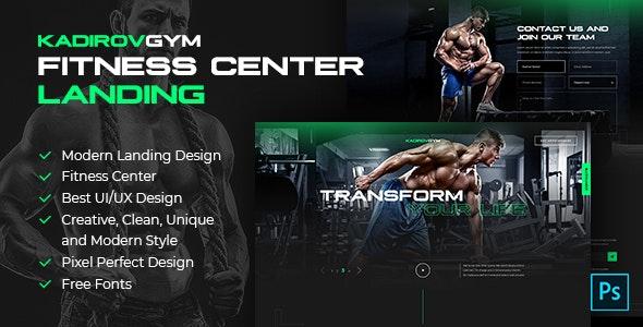 KadirovGYM - Fitness Center Landing PSD Design - Health & Beauty Retail