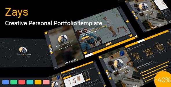 Zays - Creative Personal Portfolio Template - Personal Site Templates