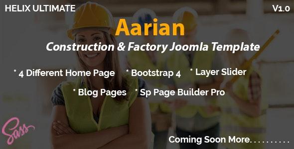 Aarian - Construction Responsive Joomla Template - Business Corporate