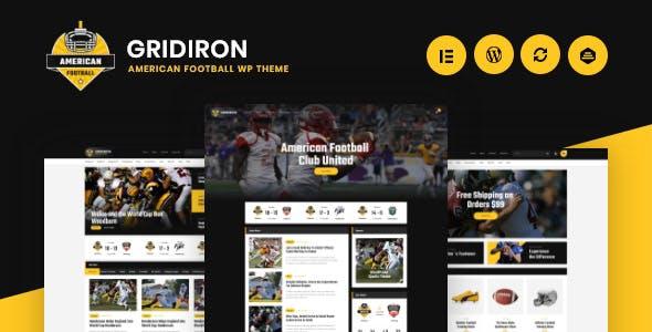 Gridiron | American Football & NFL Superbowl Team WordPress Theme