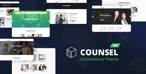 Counsell - Consultancy WordPress Theme - Business Corporate