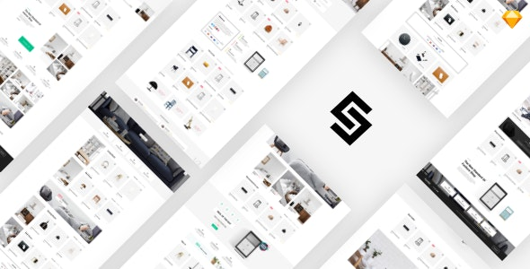Furnikit - eCommerce Sketch Template - Retail Sketch